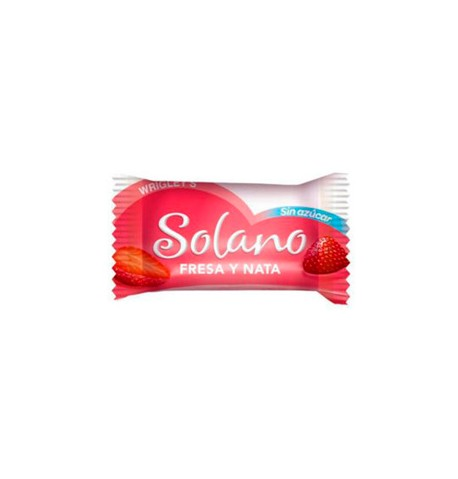 Solano Fresa Nata sin azúcar Wrigley